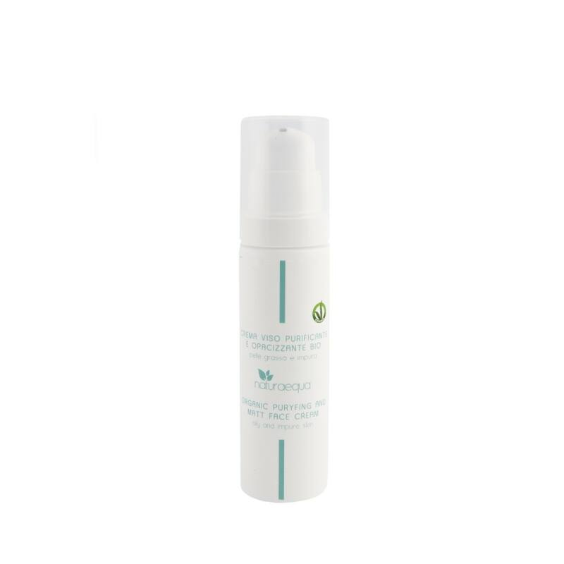 Organikus tisztító és mattító arckrém, 50 ml